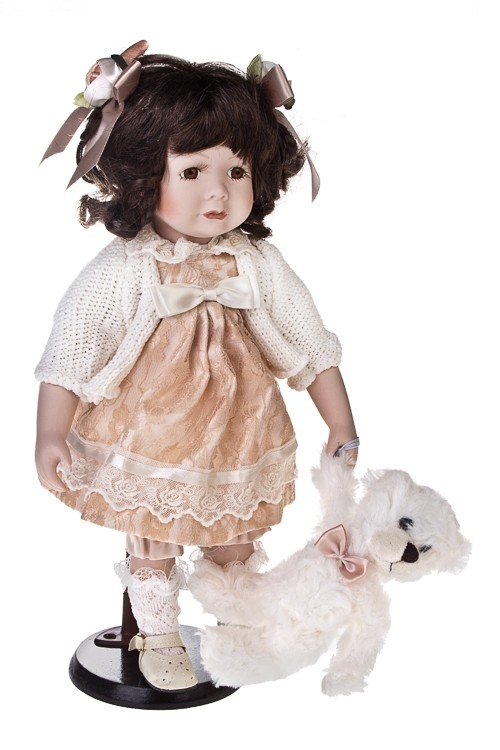 Фарфоровая кукла Непоседливая малышка