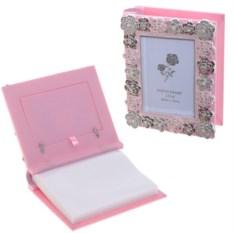 Розовая фоторамка с фотоальбомом