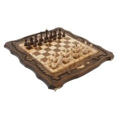 Большие резные шахматы и нарды Священная гора