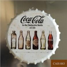 Декоративная пивная крышка Coca-cola white