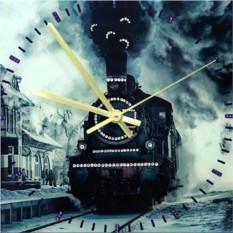 Часы с кристаллами Swarovski Паровоз