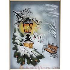 Картина Зимний вечер, 30x40 см