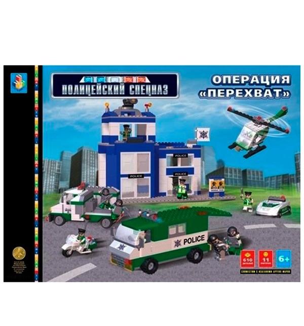 Конструктор 1 Toy Операция Перехват. Полицейский спецназ