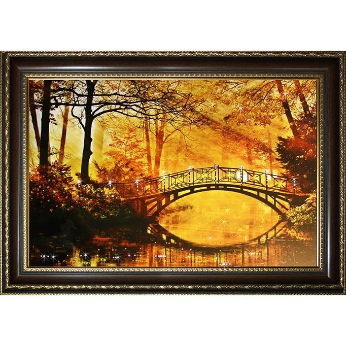 Картина с кристаллами Swarovski Осенний парк