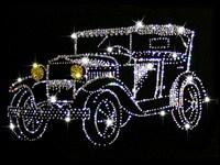 Картина Swarovski Ретро-автомобиль