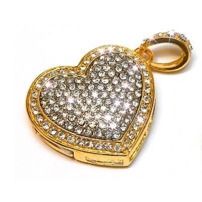 Флэш-накопитель 4 Гб «Золотое сердце»