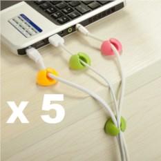 Набор из 5 комплектов клипс для кабелей Cable Clips