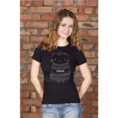 Женская футболка с вашим текстом Котик