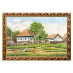 Картина из каменной крошки Домик в деревне (40х60 см)