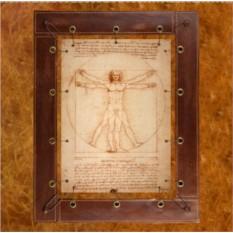 Картина из кожи Витрувианский человек Леонардо да Винчи