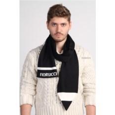Черный мужской шарф с логотипом Fiorucci