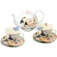 Чайный сервиз «Высокая мода» на 2 персоны