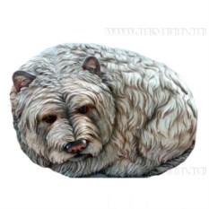 Декоративный камень Собачка Люсси