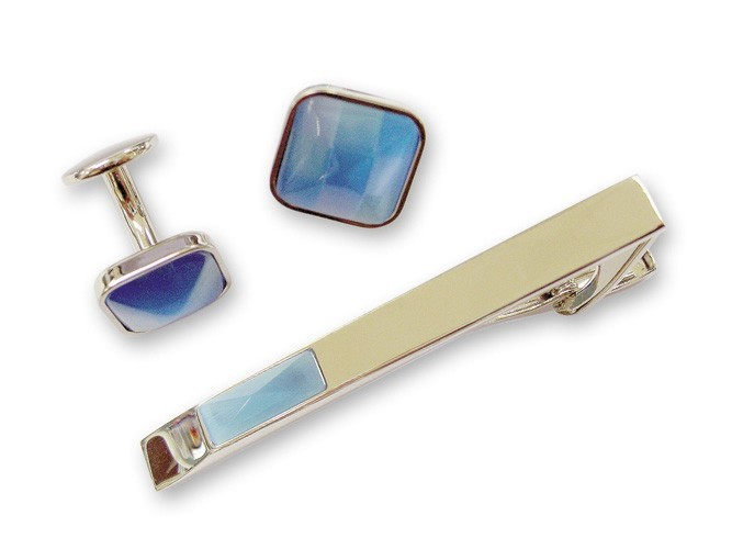 Набор: заколка для галстука + запонки. S.QUIRE EG-11746