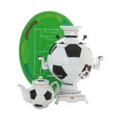 Набор электрический самовар с художественной росписью Мяч