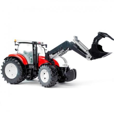 Трактор с погрузчиком steyr cvt 6230 Bruder