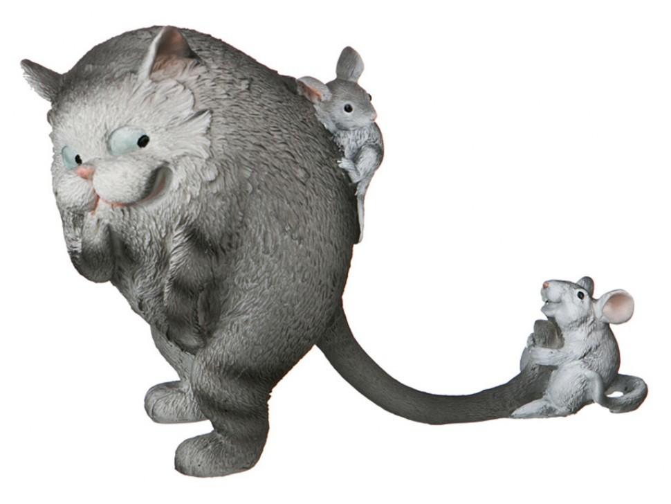 Фигурка Кошка с мышкой