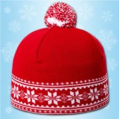 Красная шапка «Зимние узоры»