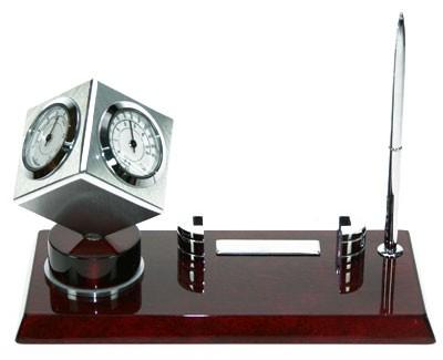 Настольный набор Часы и термометр