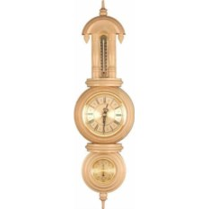 Настенные часы с термометром барометром