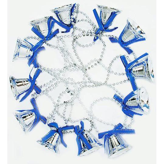 Новогодние бусы с колокольчиками 3,5 (12 шт.) , 2,7 м асс. 2 цвета