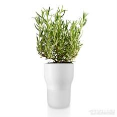 Белый горшок для растений с функцией самополива d11 см