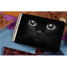 Зажим для денег с принтом Черный кот