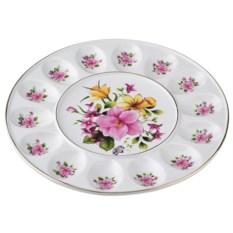 Блюдо для яиц с цветами Porcelain Manufacturing