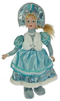 Фигурка Снегурочка в кокошнике, с белой жилеткой, 41 см