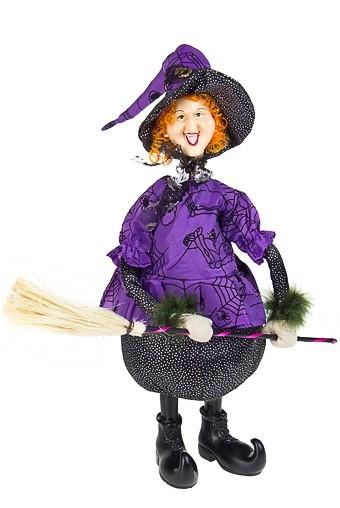 Декоративная кукла Веселая ведьмочка