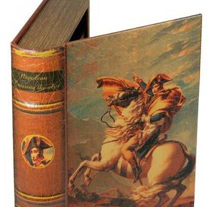 Шкатулка в виде фолианта Давид Ж.Л. Наполеон на перевале