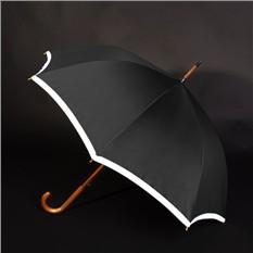 Черный зонт-трость Unit Reflect