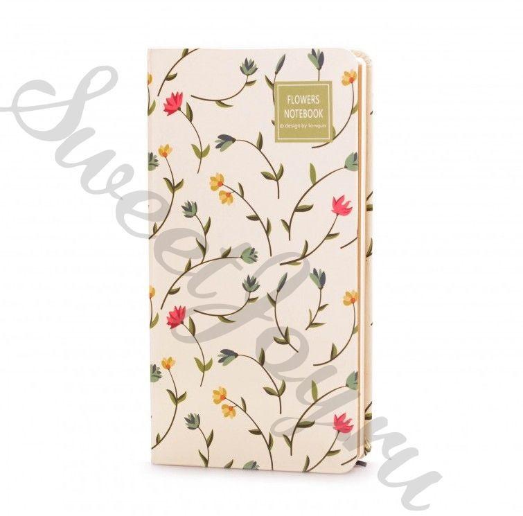 Блокнот Flowers Notebook – White