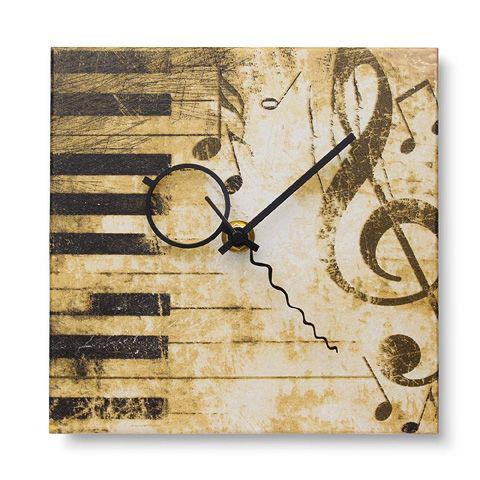 Настенные часы ручной работы «Скрипичный ключ»