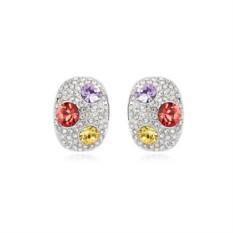 Серьги с цветными кристаллами «Россыпь»