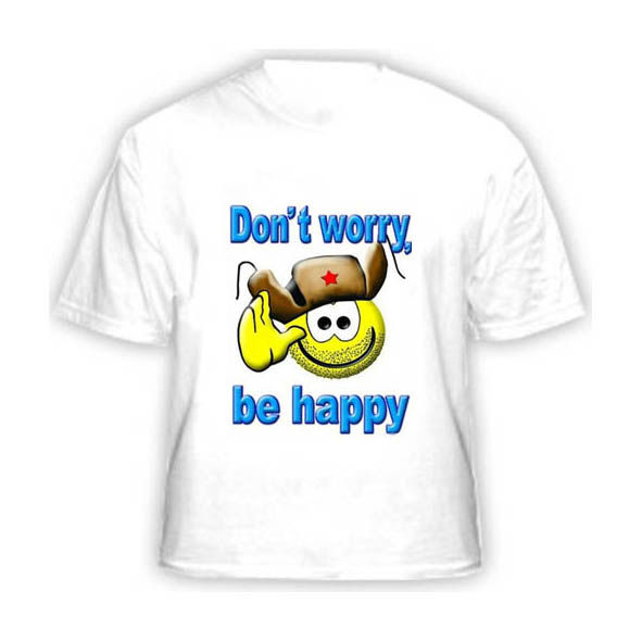 Футболка Dont worry be happy