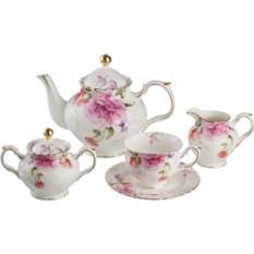 Чайный сервиз на 6 персон Розовый пион