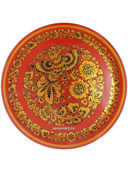Тарелка-панно с росписью хохлома Золотая птица