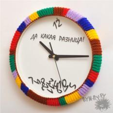 Вязанный ободок на часы Радуга