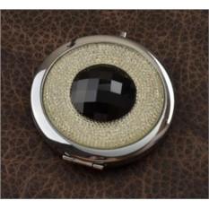 Карманное зеркальце, коллекция Crystal (белый/черный; тип 2)