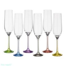 Набор бокалов для шампанского Rainbow