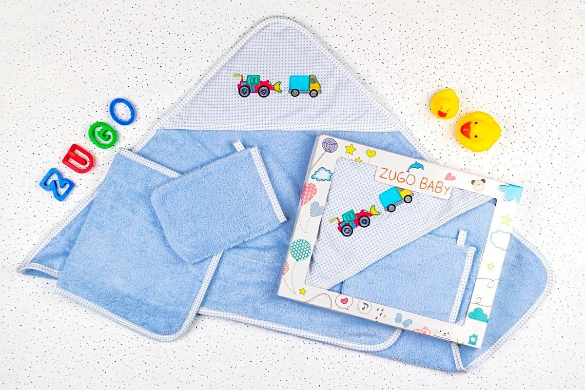 Набор для купания (полотенце+салфетка+мочалка) Karna