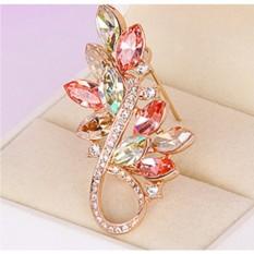 Брошь с кристаллами Сваровски Золотая осень