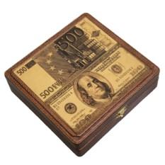 Шкатулка для денег «Доллары-Евро»