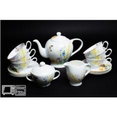 Чайный сервиз из фарфора на 6 персон Дейзи Бабочки