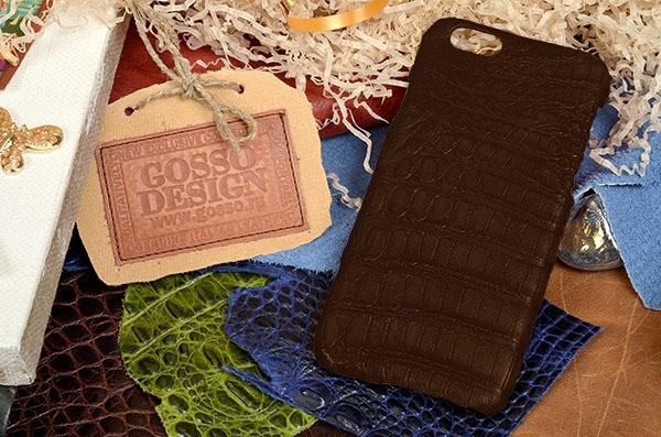 Чехол-накладка из натуральной крокодиловой кожи iPhone 6S/6
