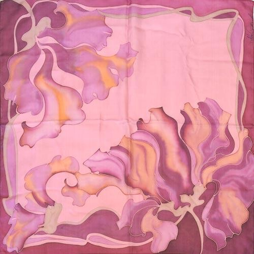 Платок из натурального шёлка Цветы Амазонии