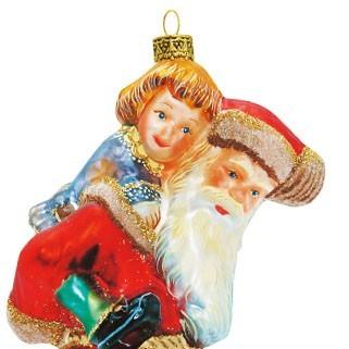 Дед Мороз с детьми на закорках VICTORIAN