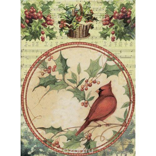 Рисовая бумага для декупажа Craft Premier Птица Кардинал