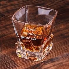 Стакан для виски Кубики льда, с гравировкой